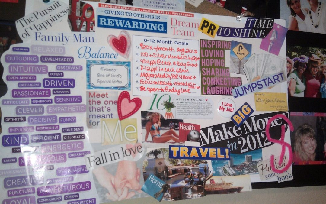 Wow! Look what was on my vision board in 2012…
