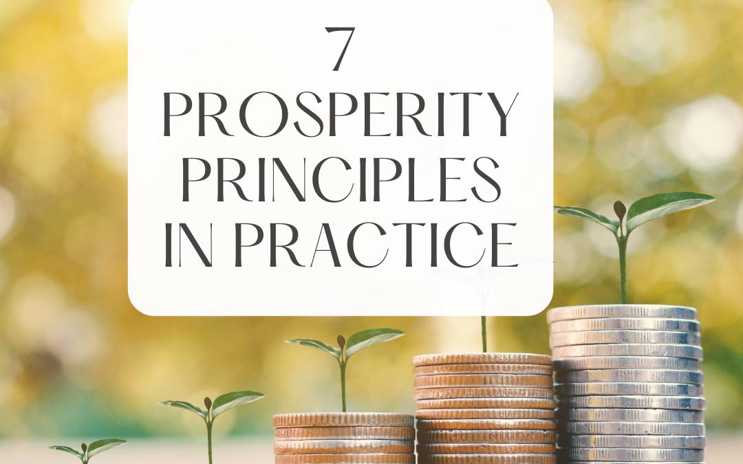 7 Prosperity Principles in Practice