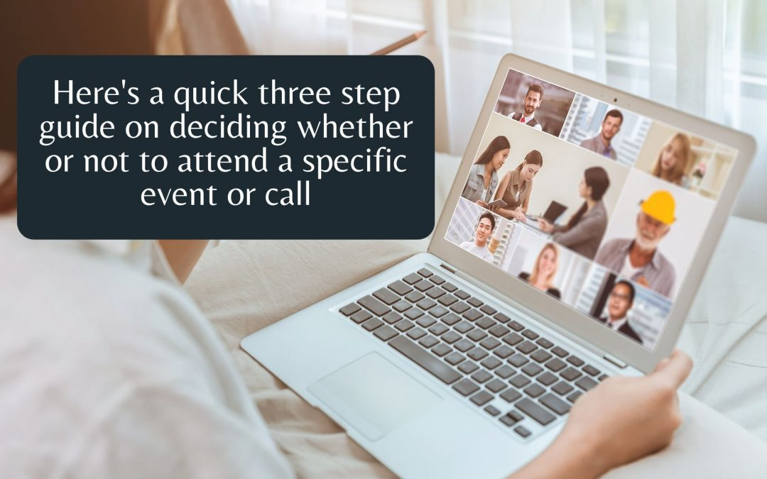 Do you have a love-hate relationship with zoom calls in 3-day events?